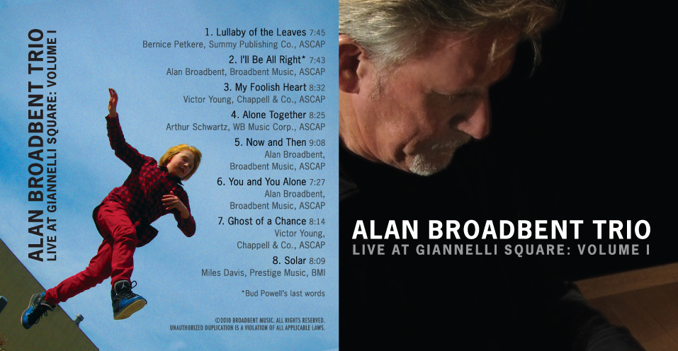 CD Insert: Alan Broadbent Trio, design by Penina S. Finger