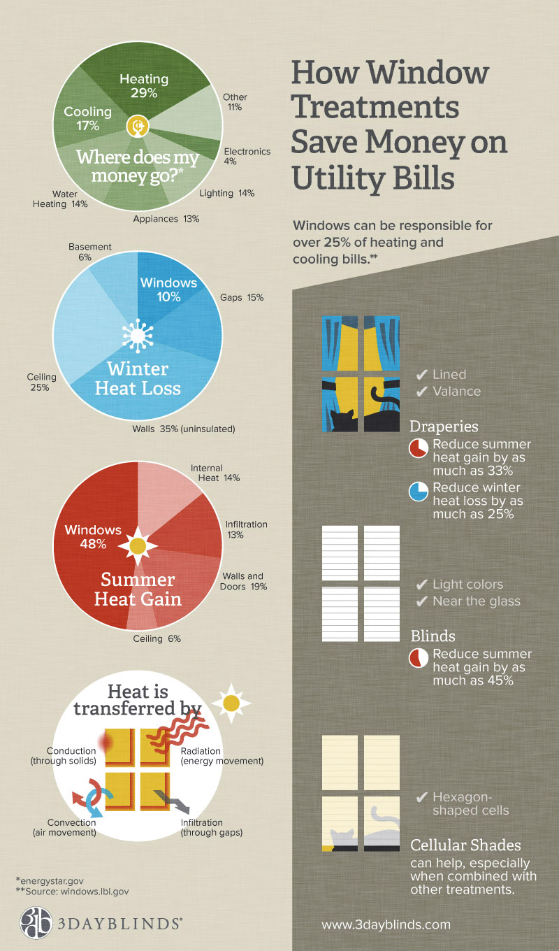 3 Day Blinds infographic, design and illustration by Penina S. Finger