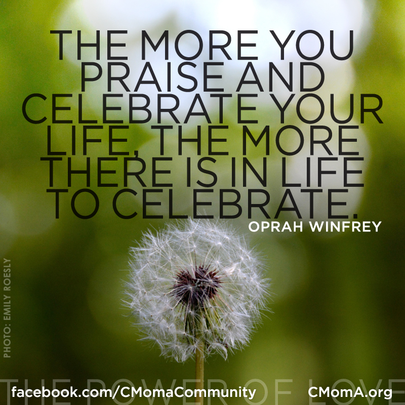 The More You Praise, social media poster by Penina S. Finger