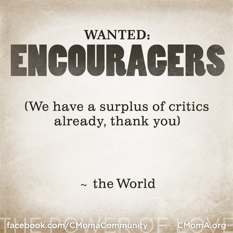 Wanted: Encouragers, social media poster by Penina S. Finger