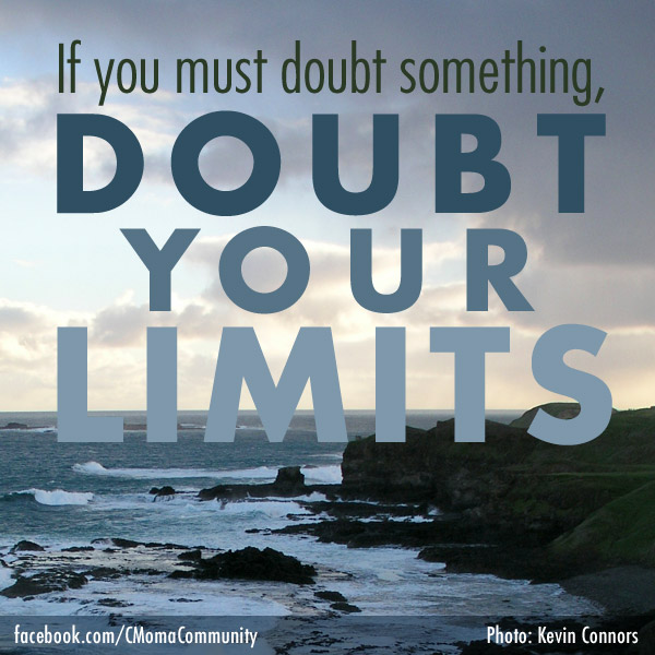 Doubt Your Limits, social media poster by Penina S. Finger