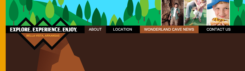 The Wonderland Cave website redesign, by Penina S. Finger