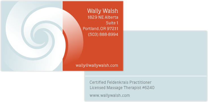 Logo and business cards for Wally Walsh, design by Penina S. Finger