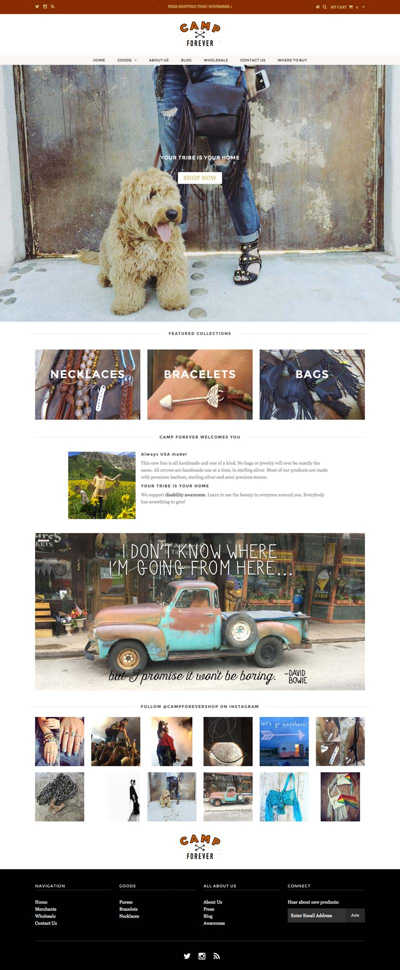 Shopify website design by Penina S. Finger
