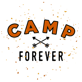 Business identity: Camp Forever logo, design by Penina S. Finger