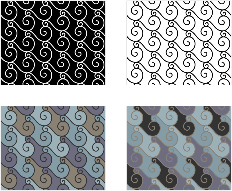 Fabric Pattern: Spiral Tempest, design by Penina S. Finger
