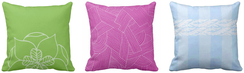 surface design - pillow pattern range